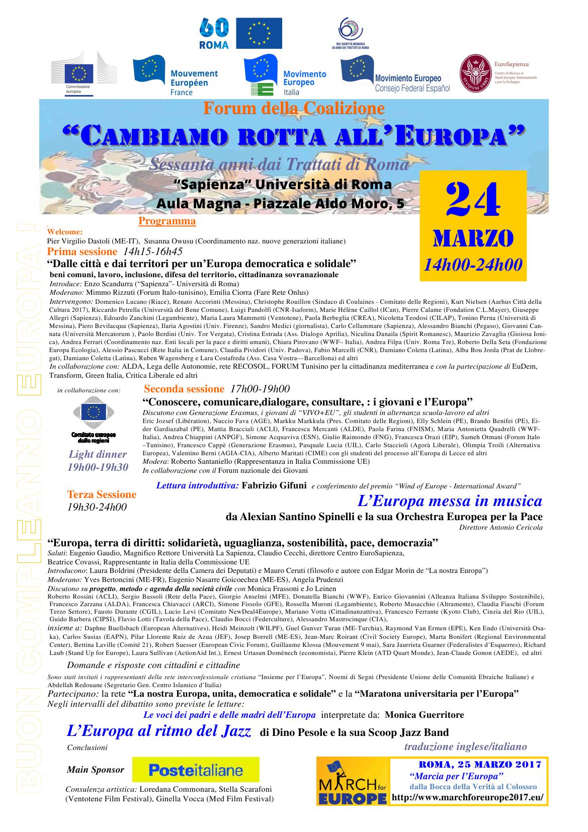 Il 25 marzo a roma lbc marcia per l 39 europa il segretario pietro gava invita alla partecipazione - Gonfalone mobili roma ...